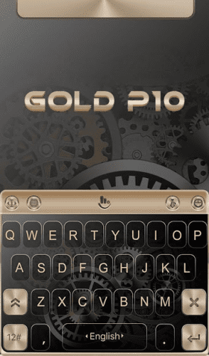 Keyboard Theme for Gold color 0