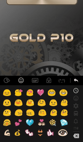 Keyboard Theme for Gold color 2
