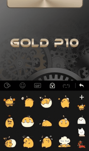 Keyboard Theme for Gold color 3