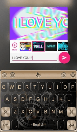 Keyboard Theme for Gold color 4
